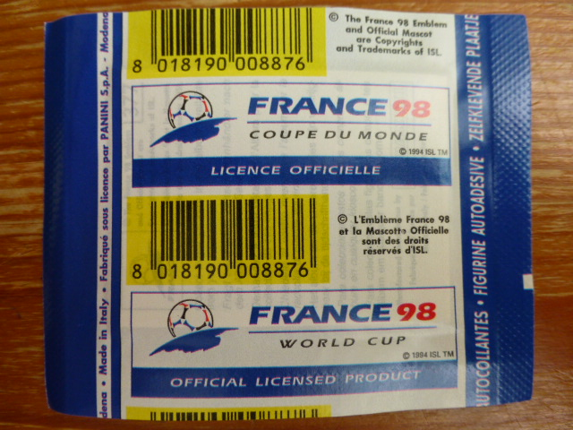 Panini France 98 Sticker Pack - Argentinian Version