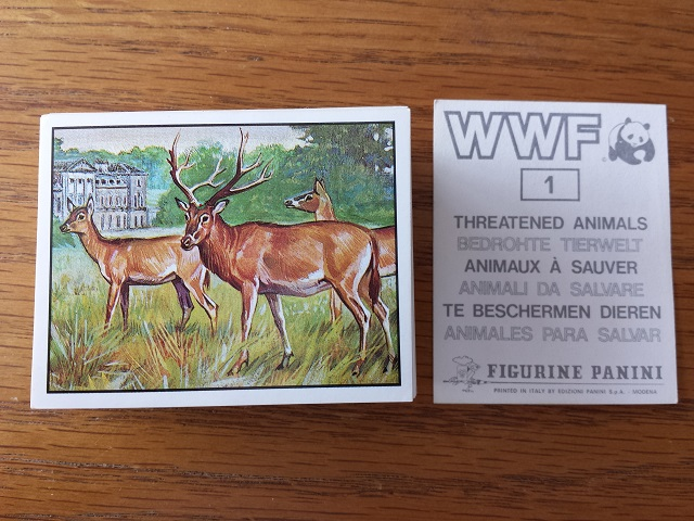 Panini WWF Threatened Animals Individual Stickers